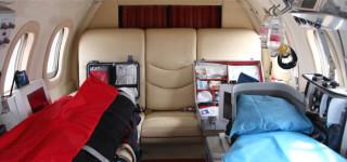 AirAmbulance-inside Learjet configuration
