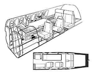 Aircraft Interior Schematic